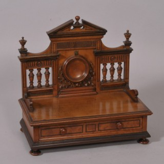 Antique 19th Century Satinwood and Rosewood Watch Holder