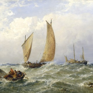 Fishing Lugger leaving the Port of Boulogne