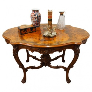 French Victorian Walnut Centre Table