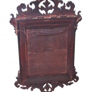 Antique 18th Century Simulated Walnut Fretwork Mirror