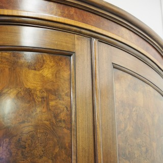 Walnut and Burr Walnut Wardrobe by Whytock and Reid
