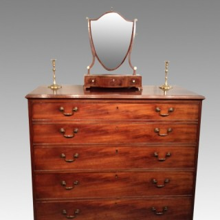 Geo III tall mahogany chest of drawers.