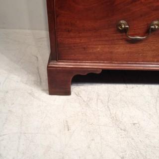 Geo III tall mahogany chest of drawers.
