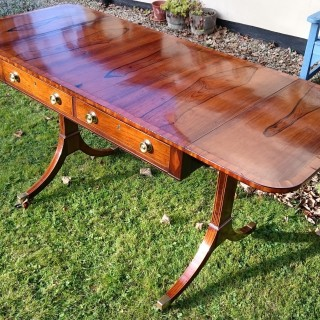 19th Century Regency Rosewood Antique Sofa Table