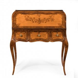 An attractive 18th century English satinwood bureau