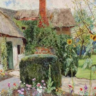 John George Sowerby 'A Cottage Garden'