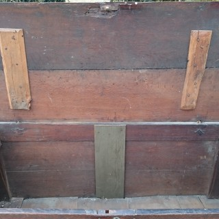 Early 18th Century Antique Mule Chest Coffer