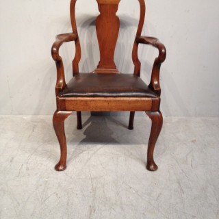 Queen Anne style walnut child's chair.
