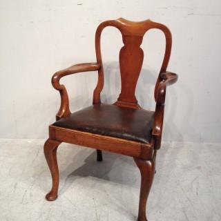 Queen Anne style walnut child's chair.