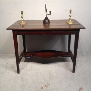 Quaint Welsh oak side table.