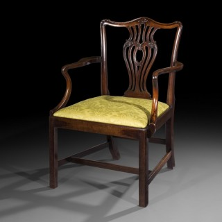 Fine George III Chippendale Mahogany Armchair