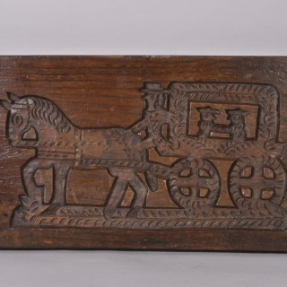 Antique Treen 19th Century Elm Double Sided Gingerbread Mould
