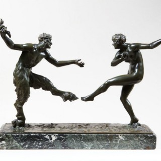 A BRONZE FIGURAL GROUP BY MAURICE GUIRAUD RIVIERE (1881-1947)