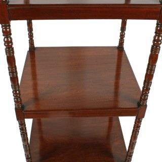 Georgian Mahogany Four Tier Whatnot