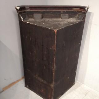 Geo III mahogany hanging corner cabinet.
