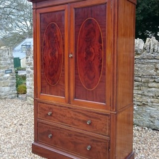 Antique Edwardian Mahogany Linen Press Made By Gillow Of Lancaster and London