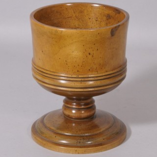 Antique Treen 19th Century Pear Wood Loving Cup