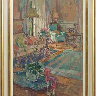 The Sunlit Chair by Susan Ryder RP NEAC  (b.1944)