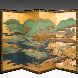 A superb pair of 19th century Japanese screens