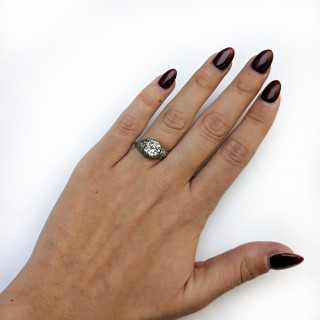 Art Deco 1.90 Carat Diamond Solitaire Engagement Ring