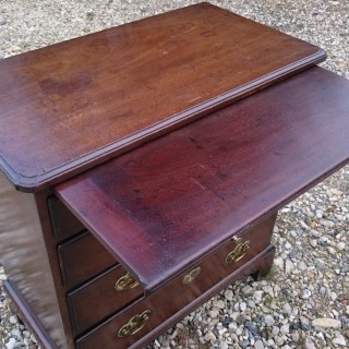 Unusually Small 18th Century George III Period Mahogany Antique Bachelor's Chest of Drawers