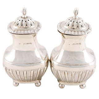 Pair of Victorian Silver Salts & Peppers