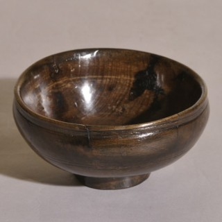 Antique Treen 18th Century Ash Food Bowl