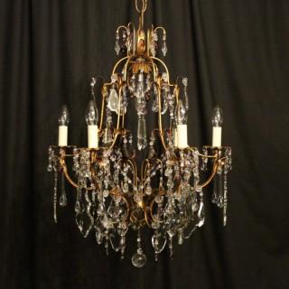 Italian Florentine 7 Light Antique Chandelier