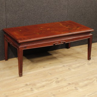 French Coffee Table In Lacquered And Painted Chinoiserie Wood From 20th Century