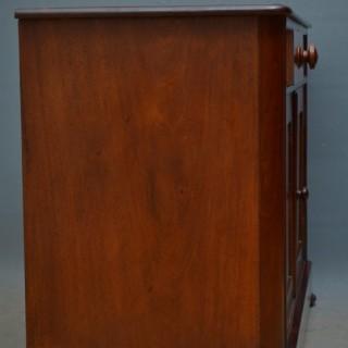 Low Victorian Mahogany Cabinet