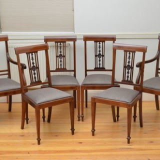 Set of 6 Edwardian Mahogany Dining Chairs