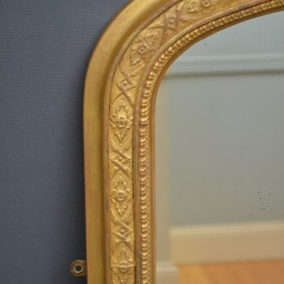 Victorian Overmantel Giltwood Mirror