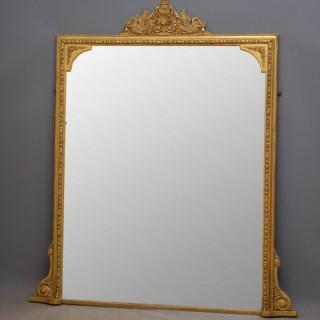 Victorian Giltwood Overmantle Mirror