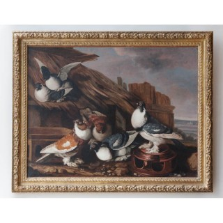 'PIGEONS ON A ROOF', JACOBUS VICTORS (Amsterdam 1640 - 1705)