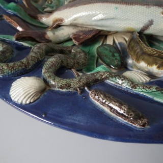 French Palissy Majolica Fish Platter