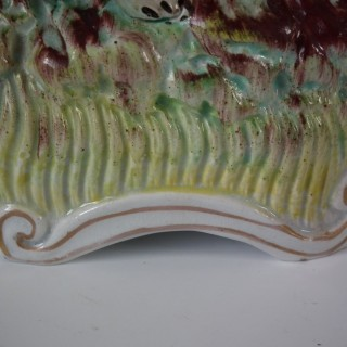 Staffordshire Macombo and Lion Spill Vase