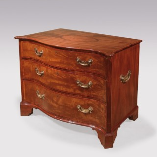 Mid 18th Century Mahogany serpentine Chest