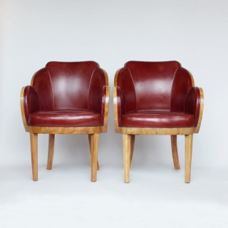 Epstein Art Deco Cloud Back Chairs
