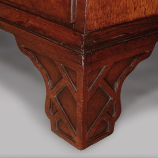 Chippendale design mahogany small Display Bookcase
