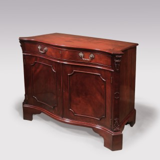 Chippendale period mahogany Serpentine Commode