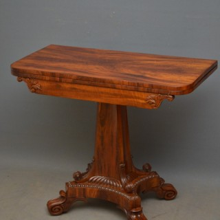 William IV Goncalo Alves Card Table