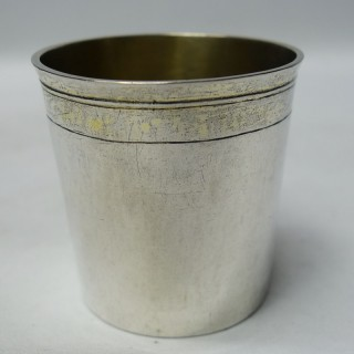 Antique German Silver Beaker