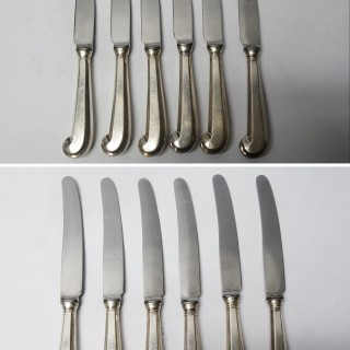 Georgian Style Silver Knives