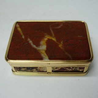 Antique Gold and Agate Snuff Box