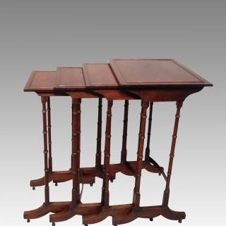 Georgian nest of four mahogany tables.