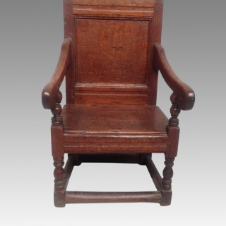 Charles II oak child's chair.