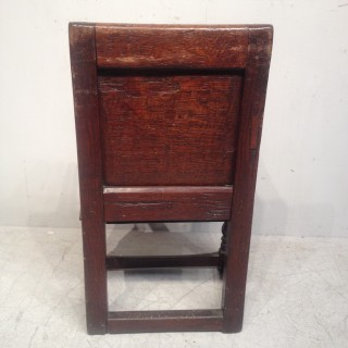 Charles II oak child's chair.