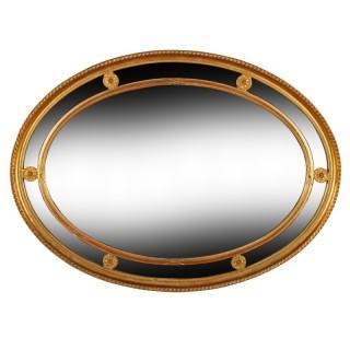 Edwardian Regency Style Gilt Frame Mirror