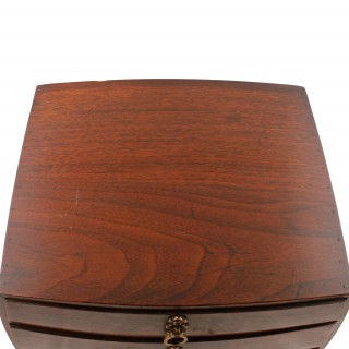 Barrel Shaped Miniature Walnut Chest