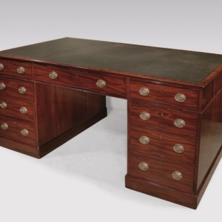 A fine late 18th Century mahogany Library Partner's Desk